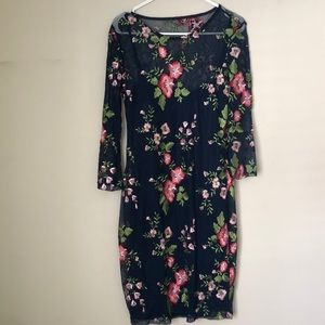 Lulus fitted two layer dress